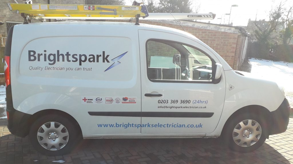 electrician Harrow van